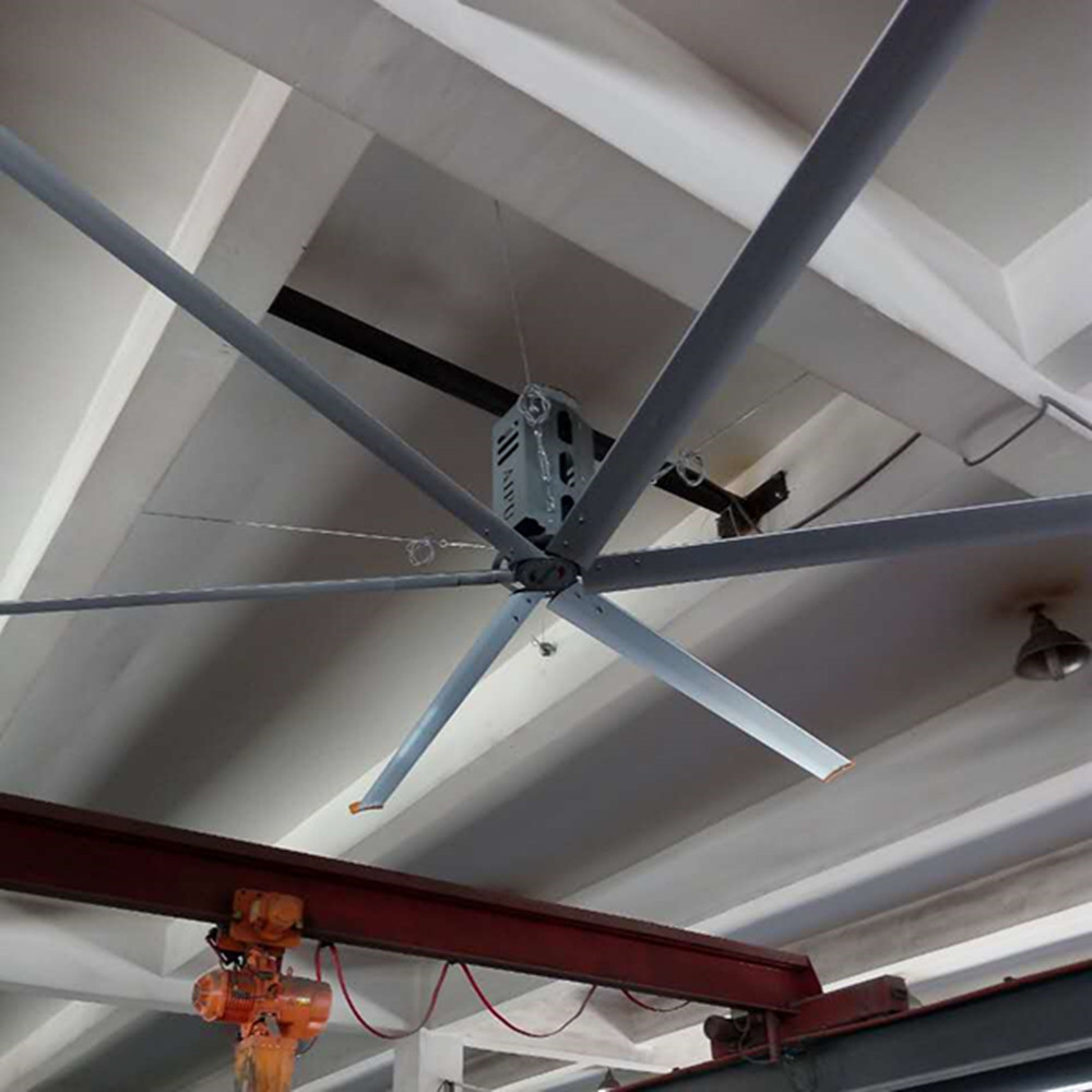 26ft 8m HVLS Large Diameter Ceiling Fans , Electric Large Warehouse Ceiling Fans