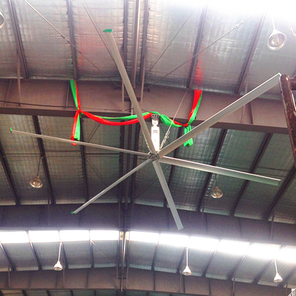 Industrial Large HVLS Ceiling Fans / 16 Foot Ceiling Fan For Distribution Centers