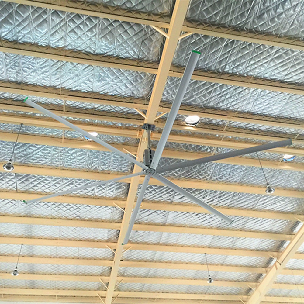 14 Foot 4.2m Large Industrial Ceiling Fans Ventilator Installation CE Approved