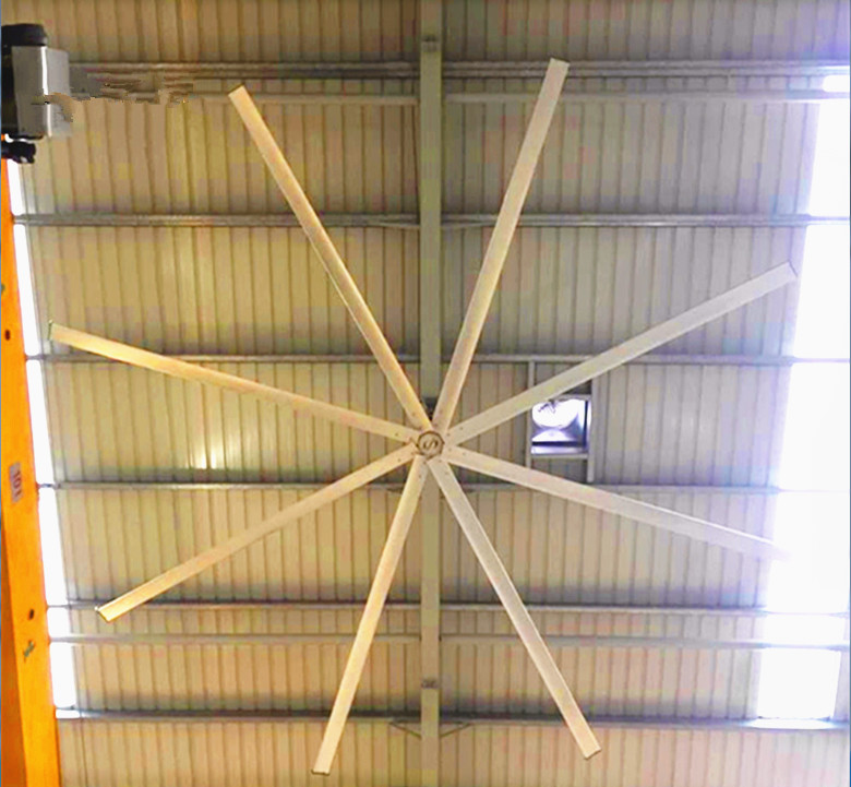 Explosion Proof HVLS Ceiling Fans Large Diameter Axial Airflow Ceiling Fan